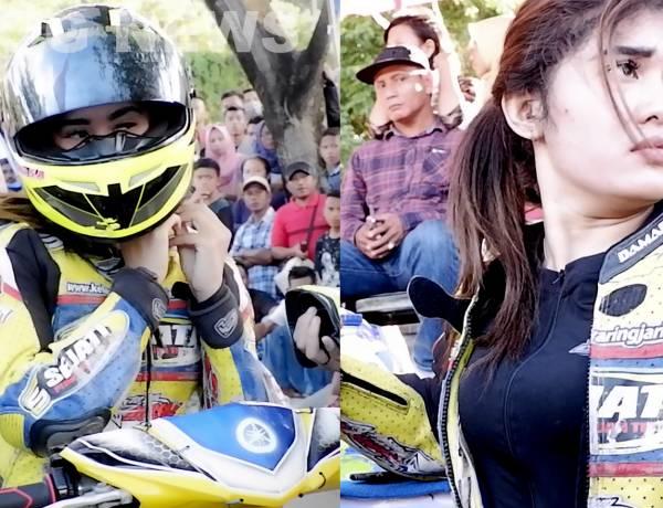 AKSI Pembalap Cantik Taklukan Lintasan Sirkuit Gorontalo Utara